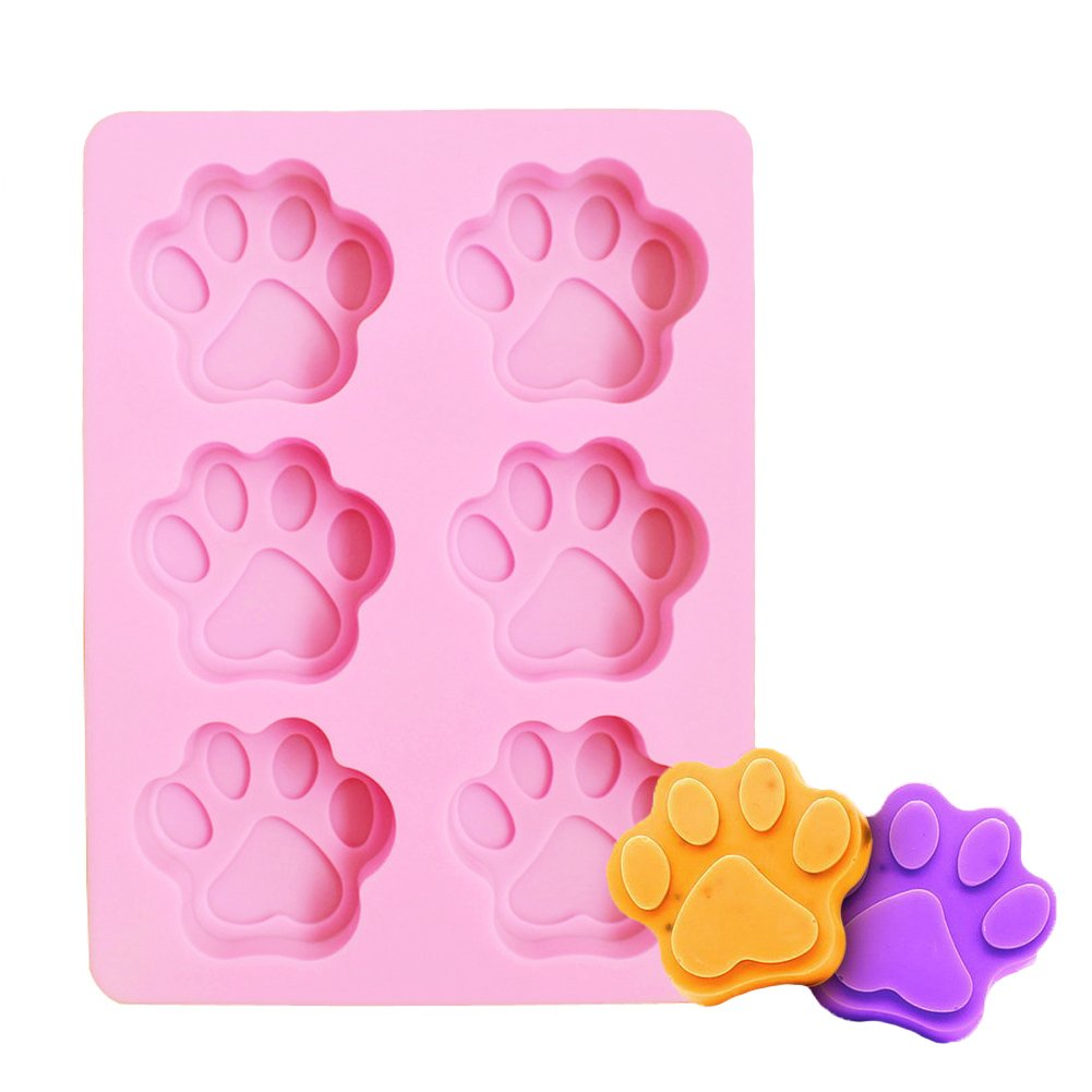 Silicone Mold Cat Claws Shape Cake Decorating Bakeware Tool Dog Paw Soap Chocolate Kitchen Cooking Mould (16-Cavity) Delaman CM-0013-01