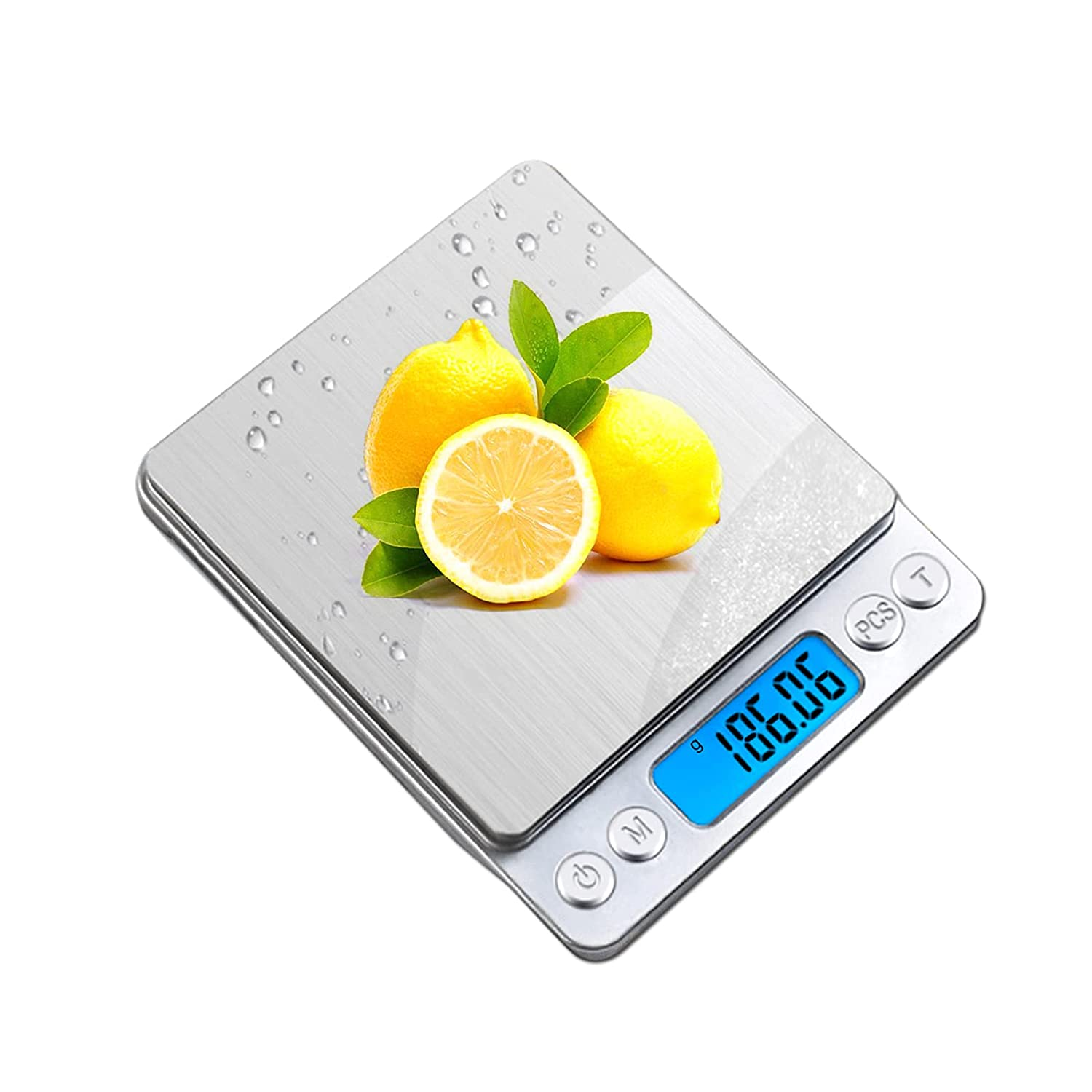 Digital Food-Kitchen Scale Weight Grams - oz for Cooking Baking,3kg/0.1g Mini Food Electronic Scale,High Precise,Coffee Scales Grams Mutritional Calculator,Back-Lit LCD Display