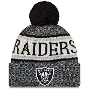 New Era Gorro con pomp/ón NFL Pop Team Knit Oakland Raiders Negro-Gris