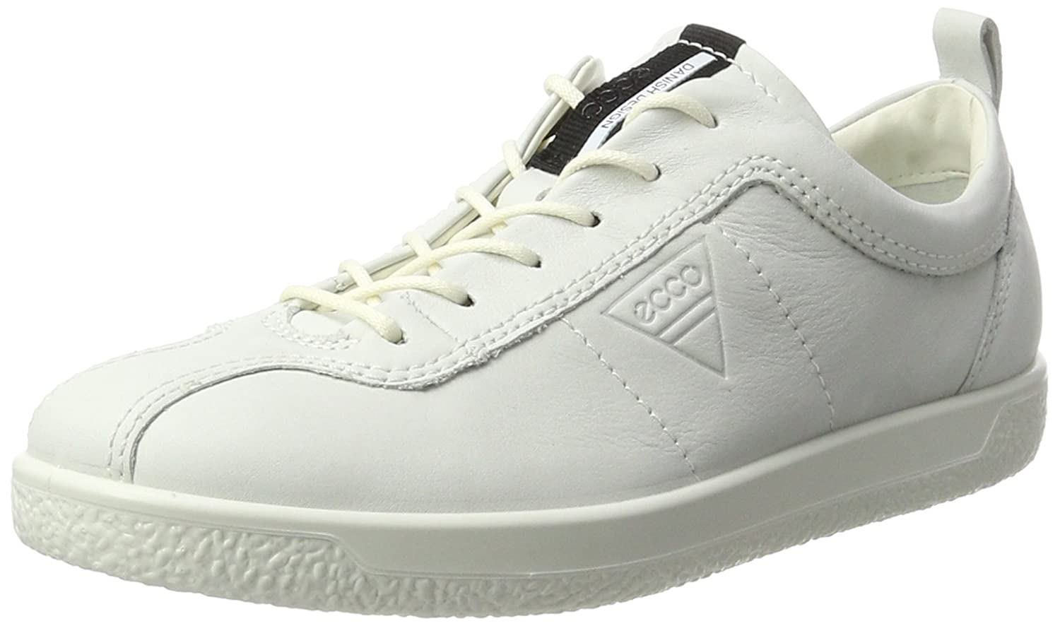 White ECCO Womens Soft 1 Lace Sneakers