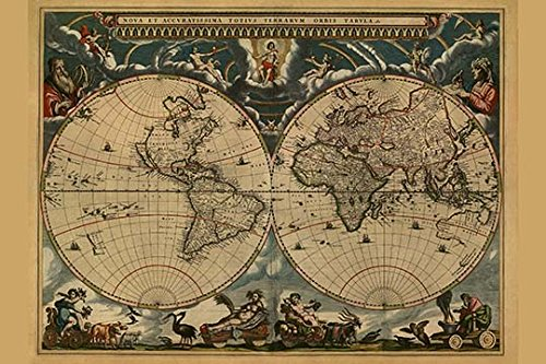 Buyenlarge 0-587-23680-9-C2030 New & Accurate Map Of The World Gallery Wrapped Canvas Print, 20
