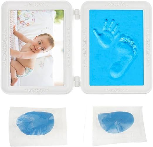 paquet à la mode et attrayant grosses soldes style actuel Cadre Photo Empreinte Bébé Pied et Main Baby Art Cadre pour ...