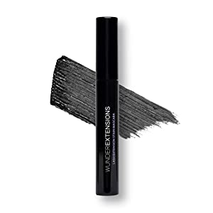 WUNDER2 WUNDEREXTENSIONS Lash Extension Stain Mascara - 72 Hours Long Lasting Waterproof Mascara Black, Lengthening Mascara