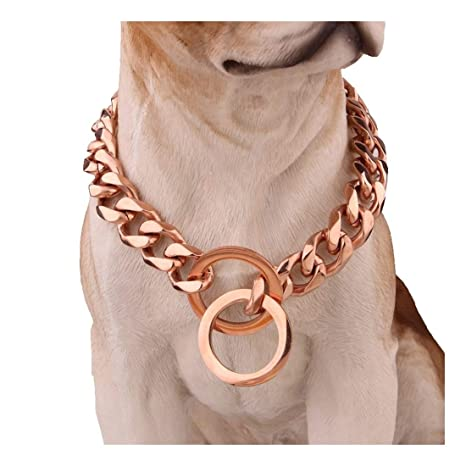 Collar de Perro de Cadena de Deslizamiento Plateado Ultra Fuerte ...