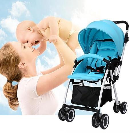 AIMADO Cochecito de Bebé Plegable del Coche Deportivo Cochecito Bebé Azul (EU Stock)
