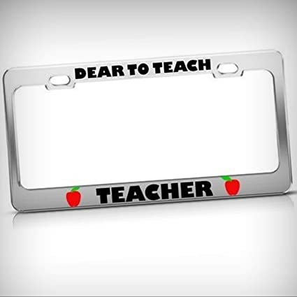 TEACHER METAL NOVELTY LICENSE PLATE TAG FOR CARS AND TRUCKS