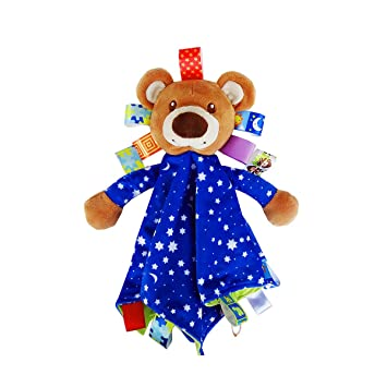 Baby Security Blanket With Plush Stuffed Animals Infant Comforter Toys Bear Cute