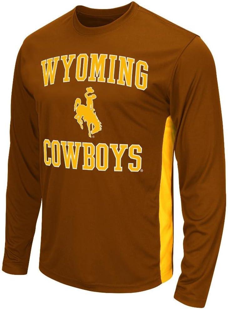 Para hombre NCAA Wyoming Cowboys camisa camiseta de manga larga equipo de (color)