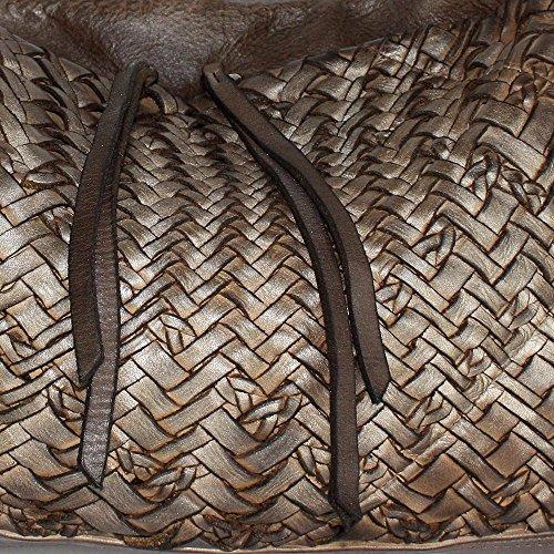 BxHxT de de 50 cm de asas mujer piel Bolso 16 x para House x Acorn 31 becerro Graubraun Reptile's BqEx7IO