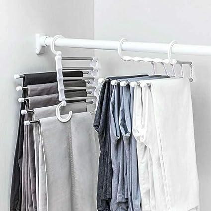 5 In 1Stainless Steel Magic Closet Hanger Organizer Hook Space Saving Cloth Rack