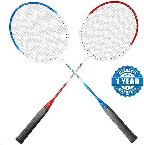 New Diangzhe Badminton Set 2 Players 2 Rackets /& 6 Nylon Shuttlecocks in Case