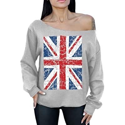 Awkward Styles Awkwardstyles Union Jack Flag Off The Shoulder Oversized Sweater British Flag
