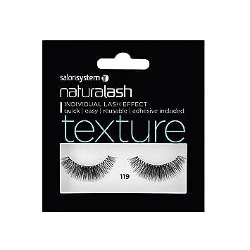 ab2f377e9cb Salon System Natural Lash, Number 119, Black Texture: Amazon.co.uk ...
