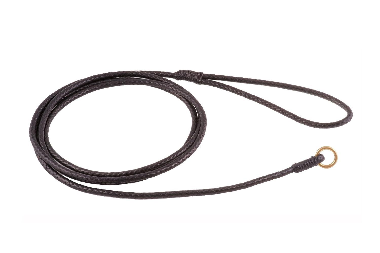 Black Alvalley Braided Slip Lead for Dogs 6ft  Medium