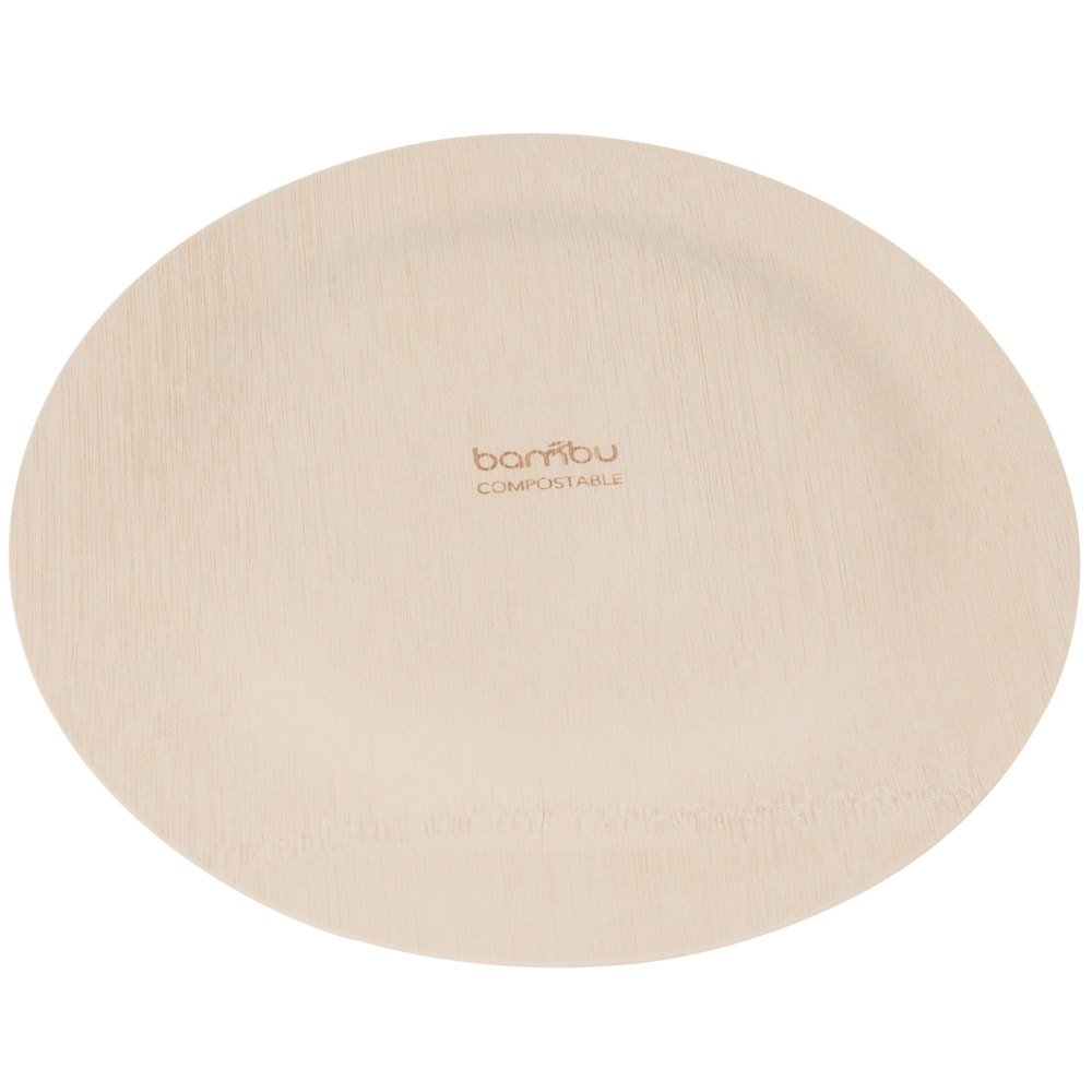 Bambu 060700 9'' Disposable Bamboo Plate - 100 / Box by Bambu (Image #3)