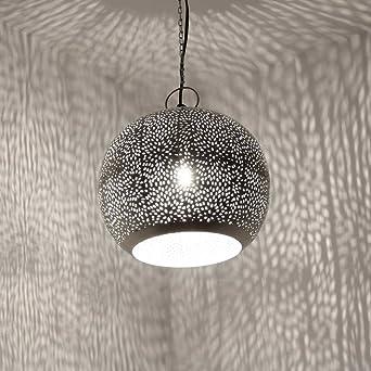 albena shop 71-0190 Jandra orientalische Lampe silber ø 30cm/H 24cm ...