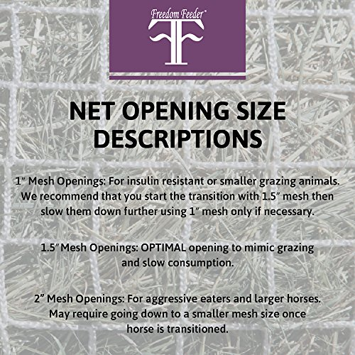 Freedom Feeder Mesh Net Full Bale Horse Feeder - Designed To Feed Horse For 7 Days - Reduce Horse Feeding Anxiety And Behavioral Issues by Freedom Feeder FF (Image #3)