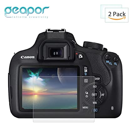 Canon EOS T6 (1300d) T5 (1200d) Protector de pantalla, 2 unidades ...