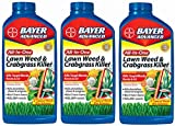 (3) bottles Bayer 704140A 32 oz Concentrate All In 1 Lawn Weed & Crabgrass Killer