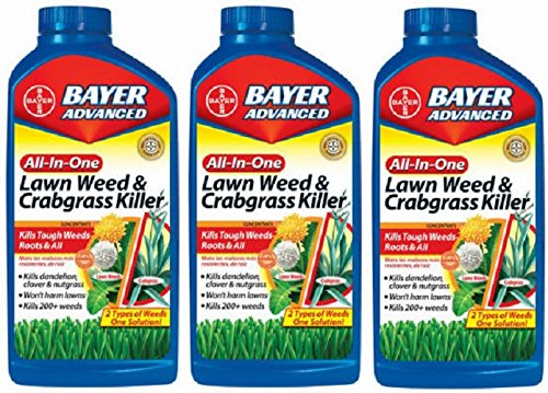 (3) bottles Bayer 704140A 32 oz Concentrate All In 1 Lawn...