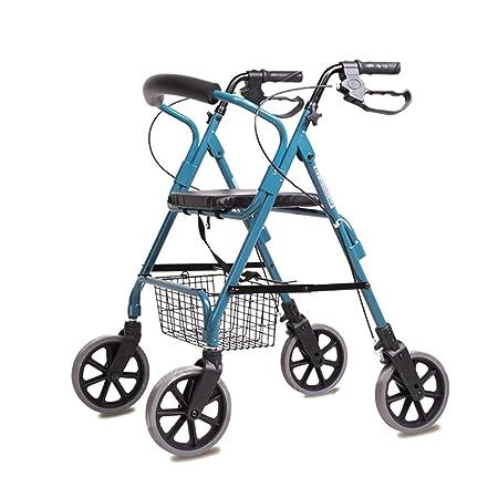HMHD Plegable Andador para Ancianos de 4 Ruedas | 40cm ...