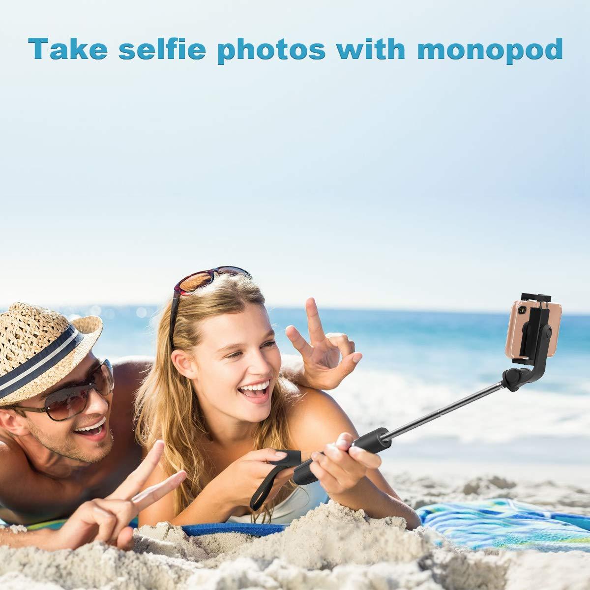 4.5-6.5 360/°Perche Selfie Bluetooth Monopode avec T/él/écommande Rechangeable Abafia Perche Selfie Tr/épied B/âton R/églable T/élescopique pour iPhone XS Max Galaxy S9 Plus,Sony Xperia,Huawei et etc