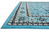 Unique Loom Kashan Collection Turquoise 10 x 13