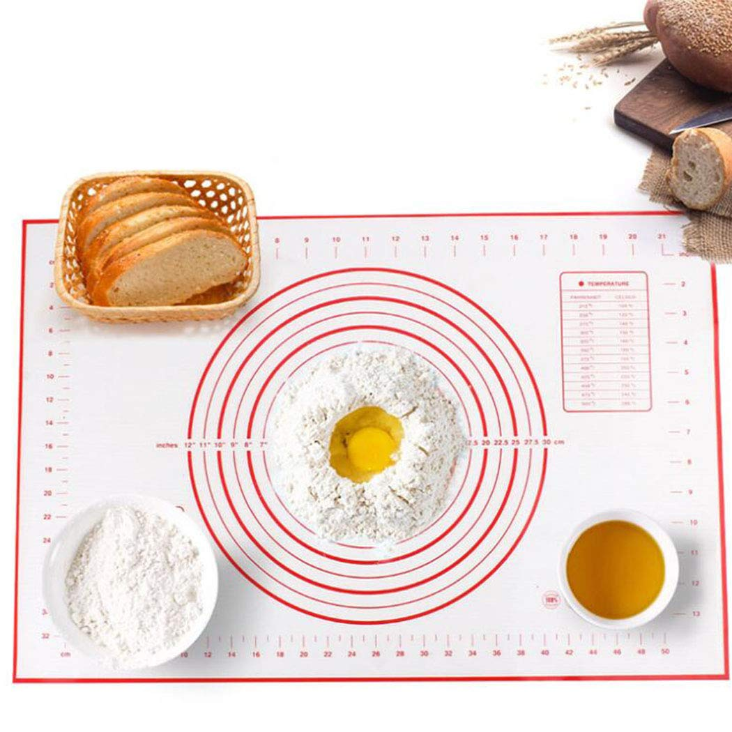 Kitchen Silicone Baking Mat Non-stick Pizza Dough Rolling Sheet Pastry Tool-DO