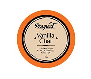 Prospect Tea Caffeinated Vanilla Chai Tea Pods for Keurig K-Cup Brewers, 40 Count