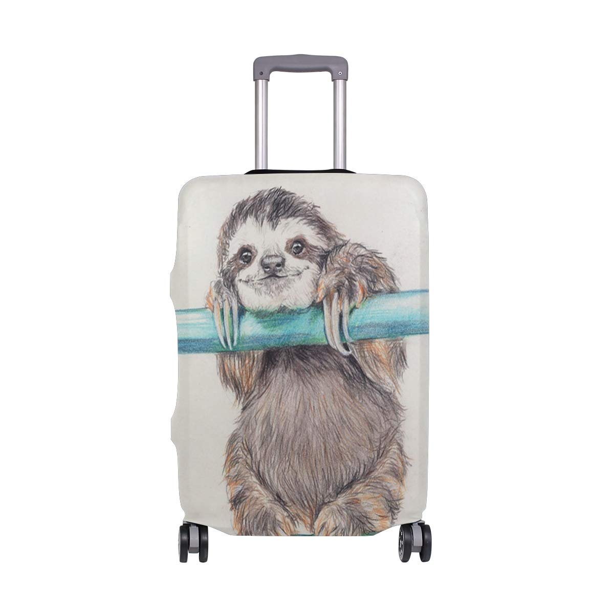 Happiest Sloth Luggage Covers Suitcase Protector Jacket Dust-proof Anti-thief Dust-proof Case Fits 18-32 Inch Luggage