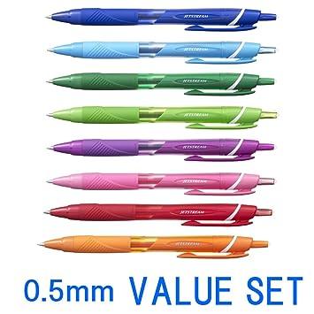 uni-ball Jetstream Roller Ball Pens,0.38mm-Black Ink-SkyBlue,Light Pink,Lavender