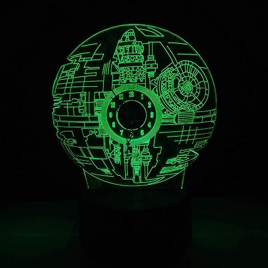 wangZJ Lámpara de escritorio de mesa de luz de noche 3d / 7 luces ...