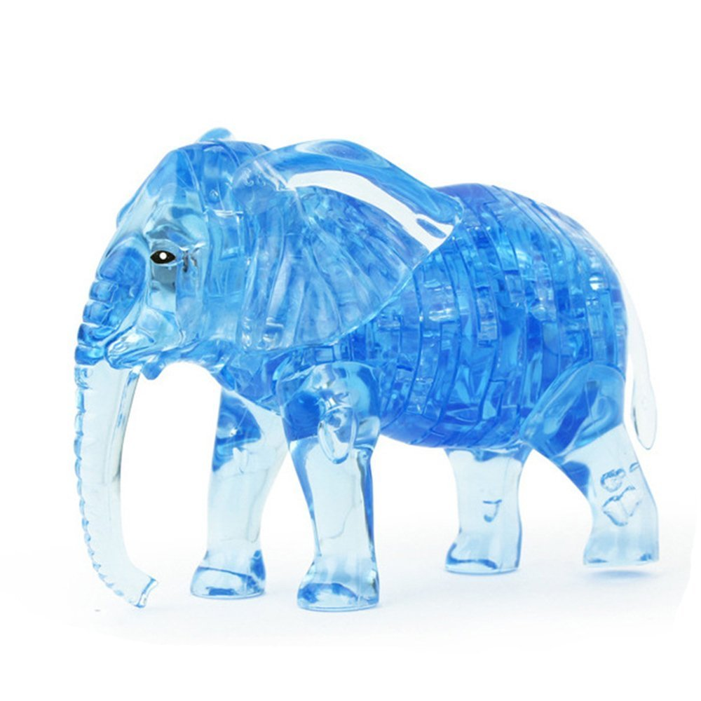3D Crystal Puzzle 41 Pieces 3D Puzzle Educational Toys Kids Toys - Elephant OEM