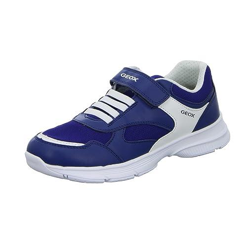 Geox J745GC A5414 C4002 - Mocasines de Material Sintético Para Niño, Color Azul, Talla 39 EU: Amazon.es: Zapatos y complementos