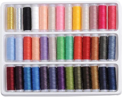 Mioloe Hilos de bolillos de máquina de coser de 39 piezas Hilos de ...