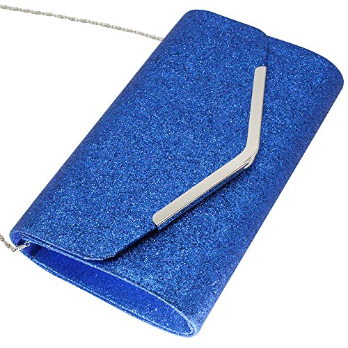 Sparkle Blue Evening Women Clutch Pattern Wiwsi Pursewhite Hard Bag Glitter Handbag Bridal Royal O7qwd