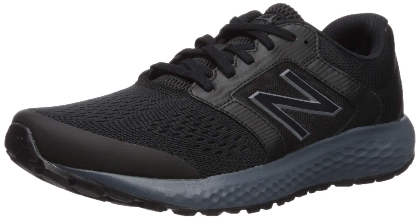 New Balance Men's 520v5 Cushioning Running Shoe, Black/Lead/Silver Metallic, 10 D US