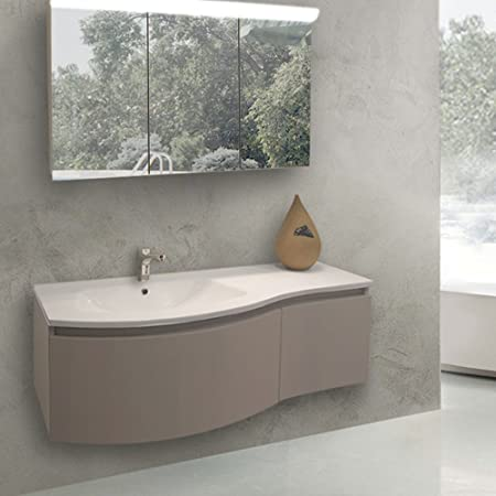 new concept e190e 73c32 Set of Suspended Bathroom Units (Curved Vanity: Length ...