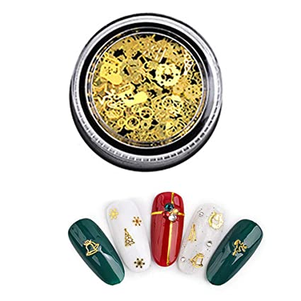3D Mini Nail Art Stud pegatinas Glitter metal encantador uñas suministros Hueco moda bricolaje uñas decoraciones