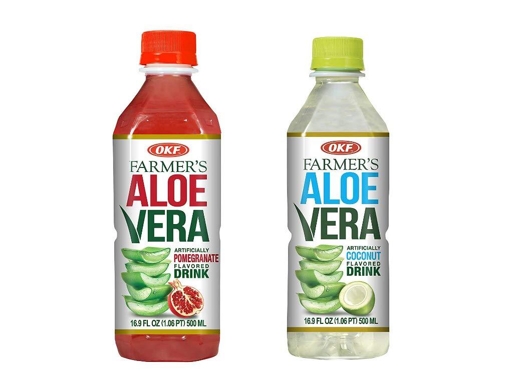 OKF Farmer's Aloe Vera Drink, Pomegranate (16.9 Fl Oz, Pomegranate, Coco)