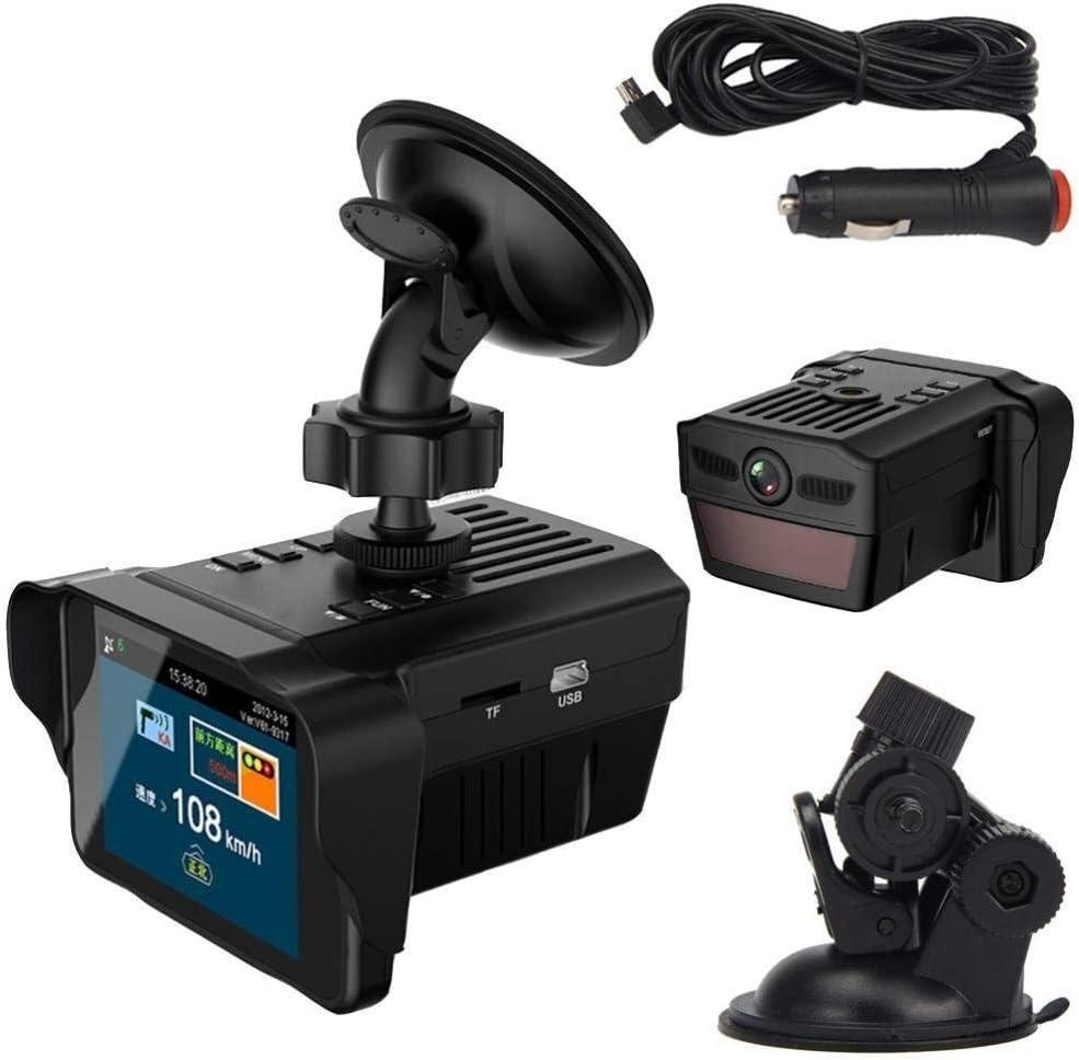Cámara de salpicadero Dash Cam,Detectores de radar de velocidad, cámara de salpicadero para Coches con Full HD 120 Grados Super Gran Angular, Pantalla TFT de 2.7 Pulgadas, Sensor G, visión Nocturna, W