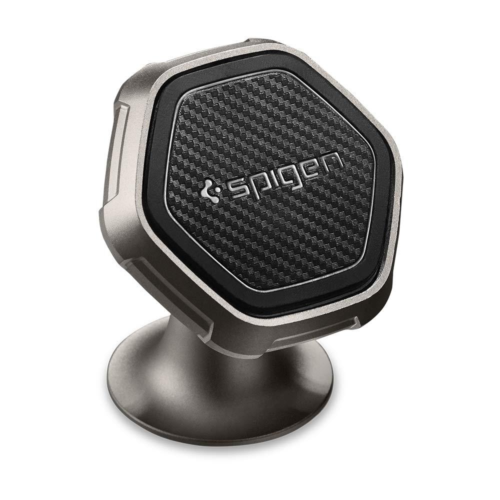 Spigen Handyhalter fürs Auto, KUEL [QS40] Universal Hexagon 360º Aluminum Metal Kfz Magnet Handy Autohalterung fürs Armaturenbrett 000CG22760