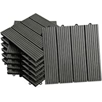 Aufun azulejos WPC azulejos 30 x 30 plástico
