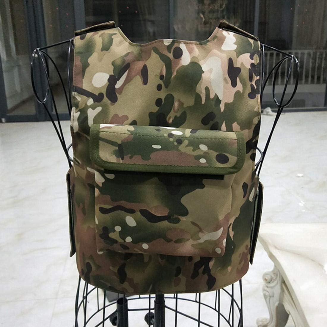 Leic Chaleco Protector t/áctico Ni/ños t/ácticas Militares de Tres Niveles Traje de Chaleco de Equipo extendido para Menos de 140 cm para Entrenamiento CS Airsoft Paintball Game