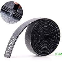ORICO zwarte bevestigingstape, herbruikbare kabelbanden Draadbanden Klittenband Nylon kabelclips Draadorganizer voor…