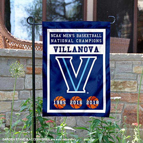 College Flags and Banners Co. Villanova Wildcats 3 Time Basketball National Champions Garden Flag