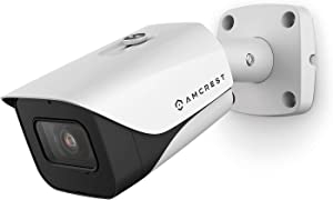 Amcrest ProHD 4K Bullet Outdoor Security Camera, 4K (8-Megapixel), Analog Camera, 130ft Night Vision, IP67 Weatherproof Housing, 3.6mm Lens, 87° Narrow Angle, Built-in Microphone, White (AMC4KBC36-W)