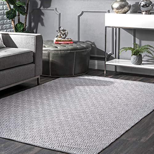 nuLOOM Lorretta Hand Loomed Area Rug, 10' x 14', Grey (Sale 10x14 Rugs)