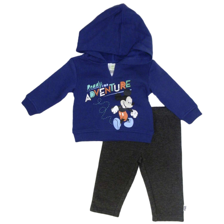 Amazon.com  Disney Infant Boy 2 PC Mickey Ready for Adventure Hoodie Shirt  Pant Set  Clothing a9080c3d8