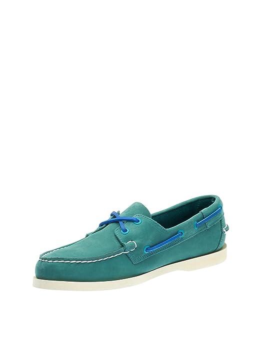 Sebago Men's Men's Docksides Blue Nubuck Leather Shoes in Size 41.5 E (W) Blue tt3rD8kzu